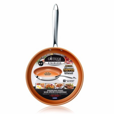 As Seen on TV 8.5  Gotham Stainless Steel Fry Pan