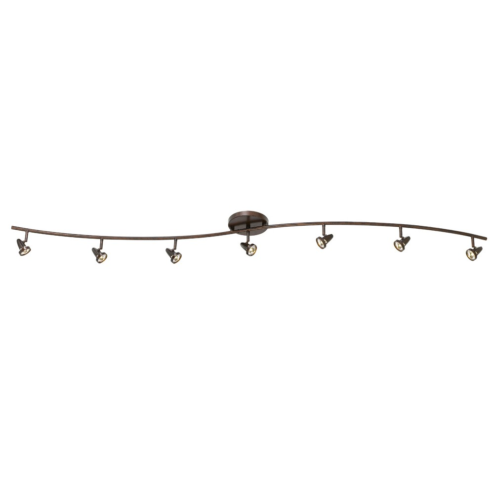 Integrated Led Serpentine Rail Fixture Comes with A Pair Of Extension poles Rust (Red) 27.5