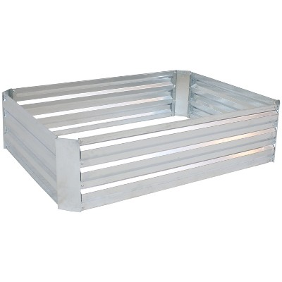 "47"" Rectangle Galvanized Steel Raised Garden Bed - Silver - Sunnydaze Decor"