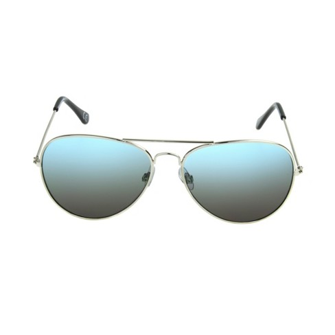 Men's Aviator Sunglasses - Goodfellow & Co™ Light Silver - image 1 of 2