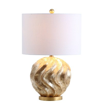 """24"""" Versailles Sphere Sea Shell Table Lamp (Includes LED Light Bulb) Gold - JONATHAN Y"""