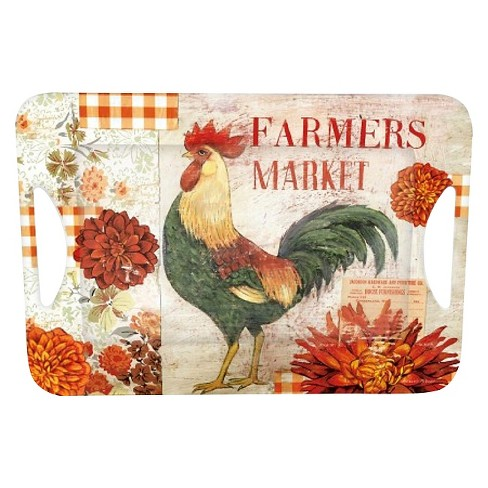 "LANG Melamine Rectangle Farmers Market Large Open Handle Serving Tray 12.7""x18.6"" - image 1 of 1"
