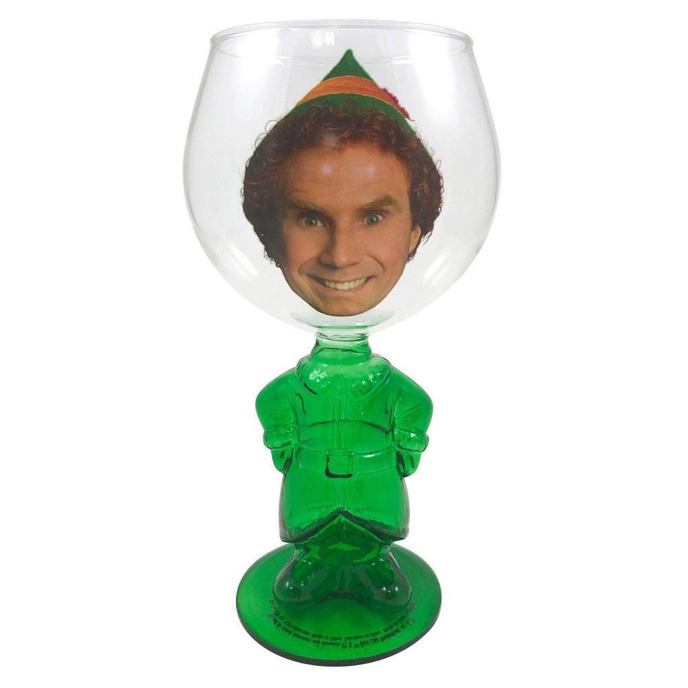 Image of Elf 18oz Glass Buddy Molded Wine Glass
