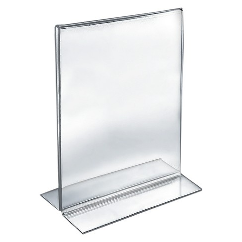 "Azar® 8.5"" x 11"" Double-Foot Acrylic Sign Holder 10ct - image 1 of 1"