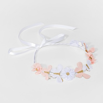 Girls' Butterfly Flower Crown Headband - Cat & Jack™