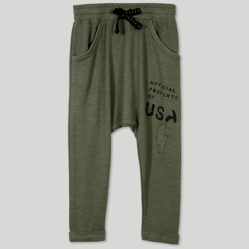 Afton Street Toddler Boys' Jogger Pants - Green 5T