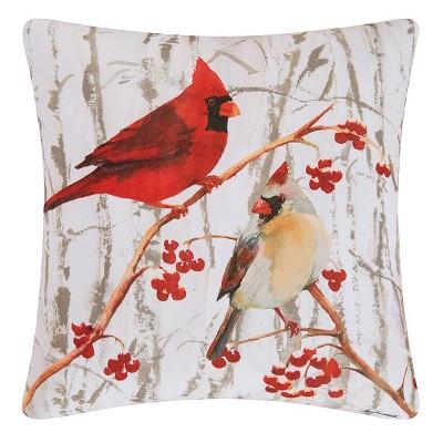 """C&F Home 18"""" x 18"""" Cardinal Pair Indoor / Outdoor Pillow"""