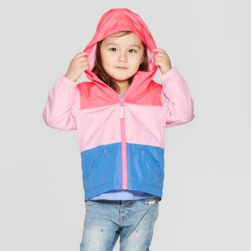 b90847479 Toddler Girls' Colorblock Windbreaker - Cat & Jack™ Pink 2T : Target