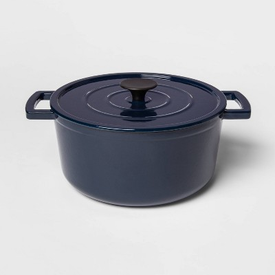 5qt Cast Iron Round Dutch Oven Navy - Threshold™