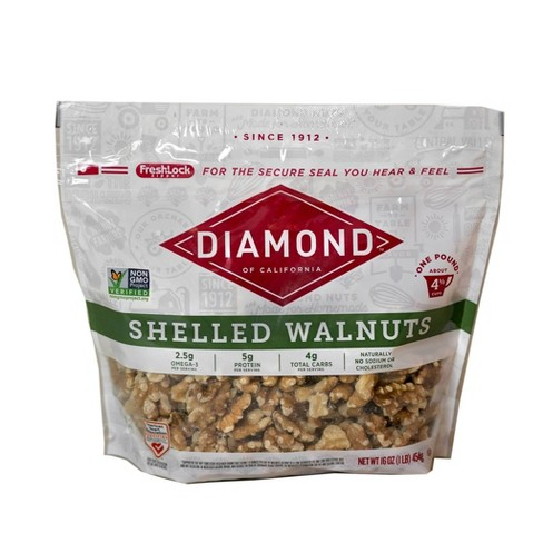 Diamond of California Shelled Walnuts - 16oz - image 1 of 4