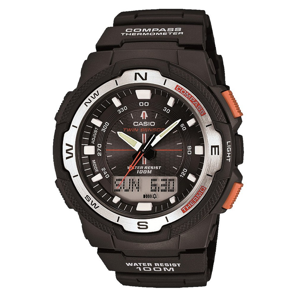 Image of Casio Men's Compass Watch - Black (SGW500H-1BV), Size: Small