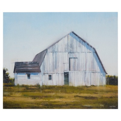 "20"" x 24"" Old White Barn Unframed Wall Canvas"