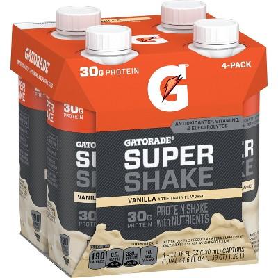 Gatorade Ready-to-Drink Super Shake - Vanilla - 4pk