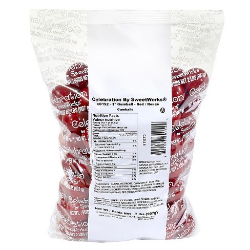 "SweetWorks 1"" Red Gumballs - 2lbs - image 1 of 2"