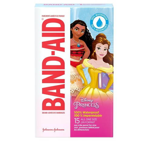 Band-Aid Disney Princess Waterproof Bandages - 15ct - image 1 of 4