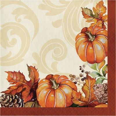 48ct Autumn Wreath Napkins