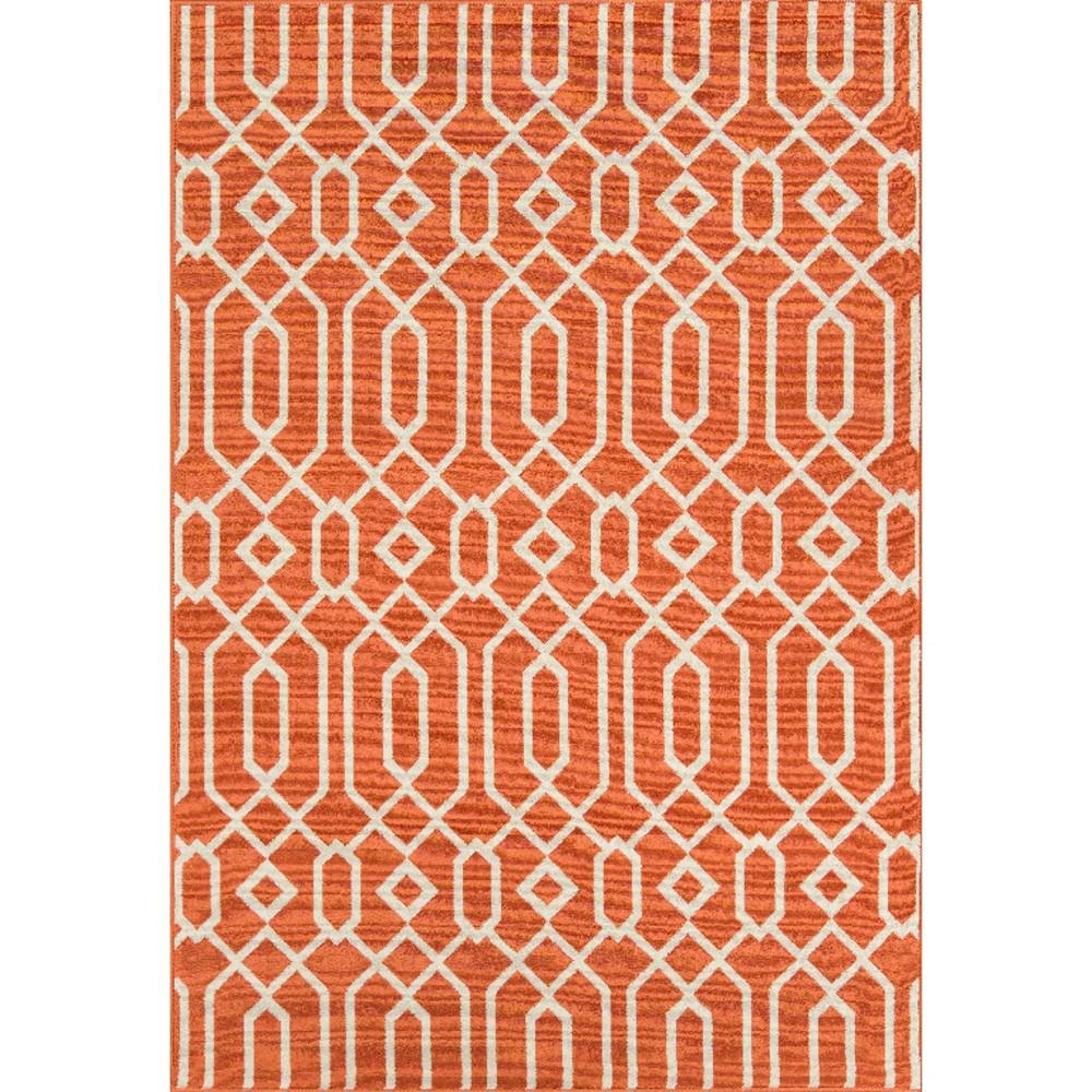 Indoor/Outdoor Lattice Area Rug - Orange (5'3