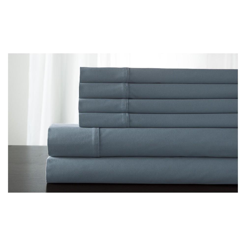 Kerrington Cotton 800 Thread Count Sheet Set (Queen) Blue Shadow - Elite Home Products