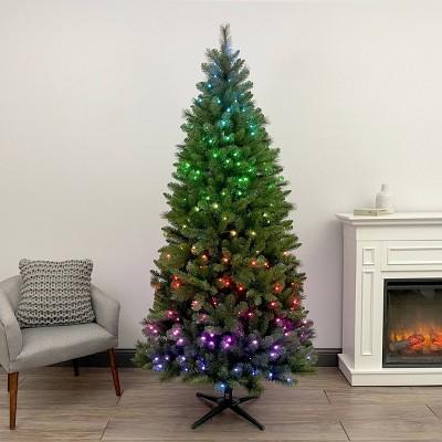 7ft Twinkly Pre-lit Douglas Fir Artificial Christmas Tree LED Lights