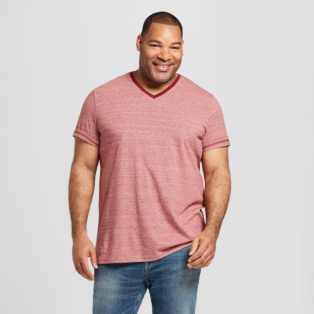 Men's Big & Tall Striped Short Sleeve Novelty T-Shirt - Goodfellow & Co Ripe Red 3XBT