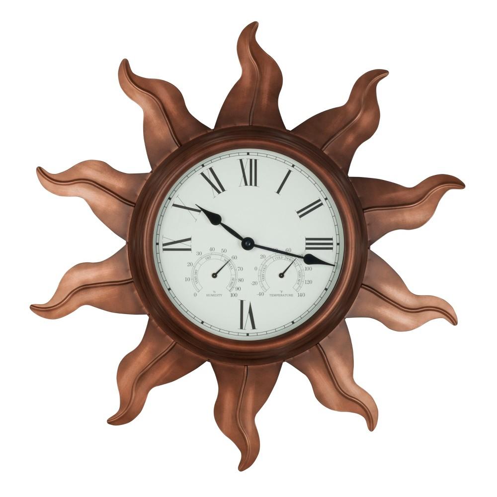 Image of 24 Indoor/Outdoor Sun Wall Clock