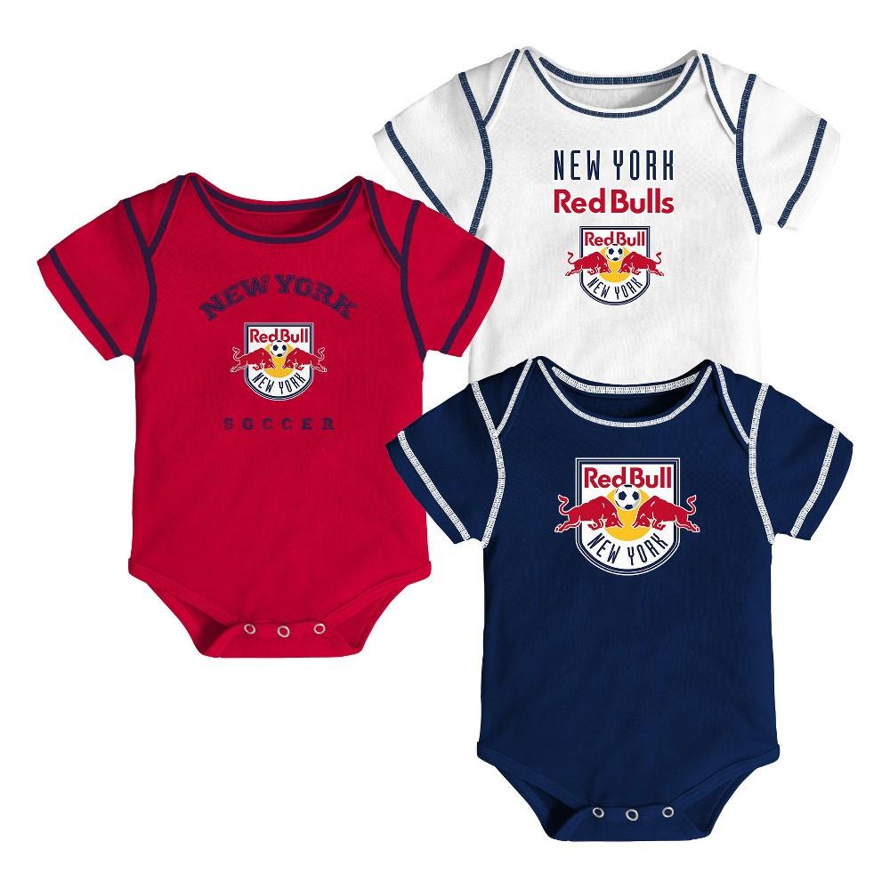 Youngest Fan 3pk Body Suit Set New York Red Bulls 12 M, Kids Unisex, Size: 12M, Multicolored