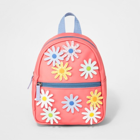 Toddler Girls' Mini Backpack with Flowers - Cat & Jack™ Pink - image 1 of 3