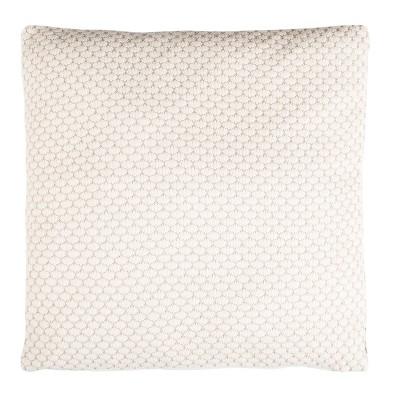 Sweet Knit Square Throw Pillow Natural - Safavieh