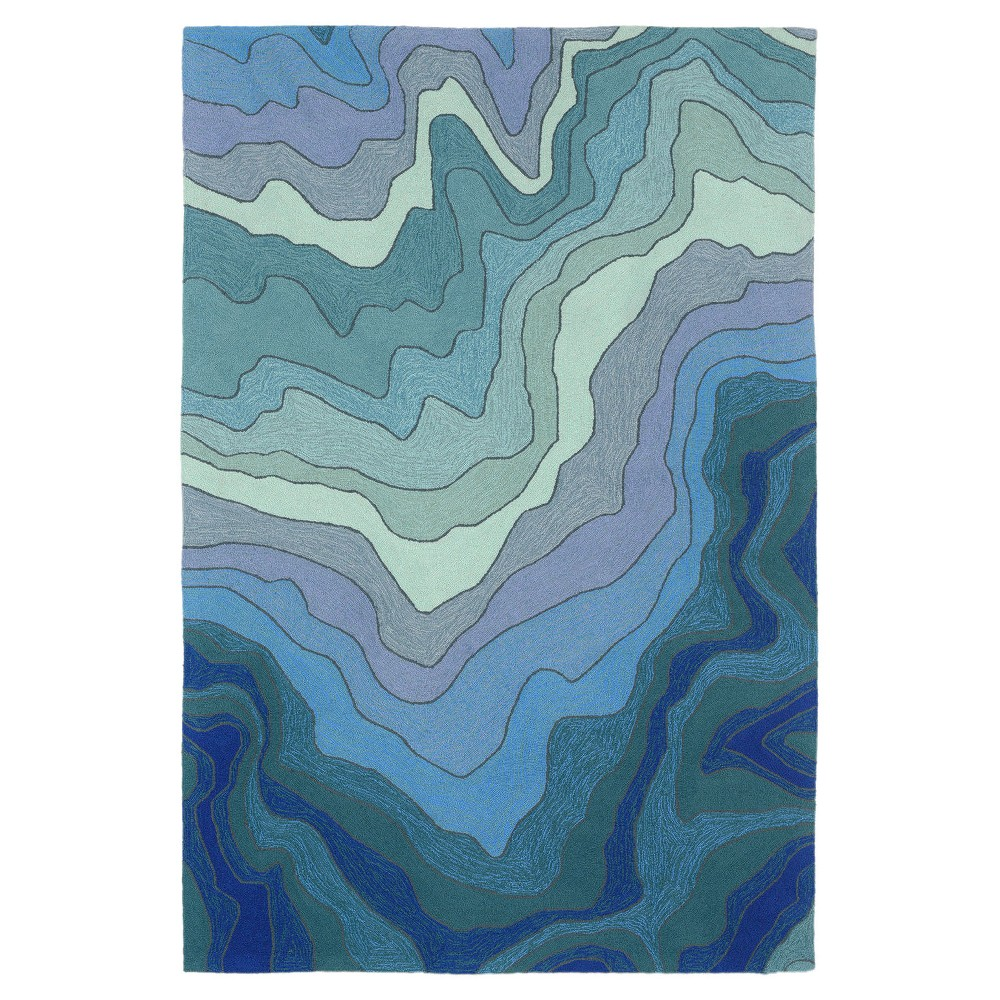 """Image of """"Blue Galaxy Tufted Area Rug 8'3""""""""X11'6"""""""" - Liora Manne"""""""