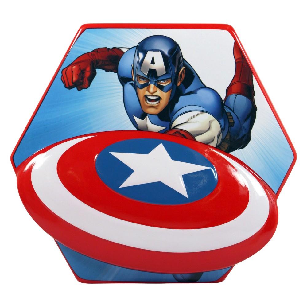 Marvel Captain America Shield Coin Bank, Multi-Colored