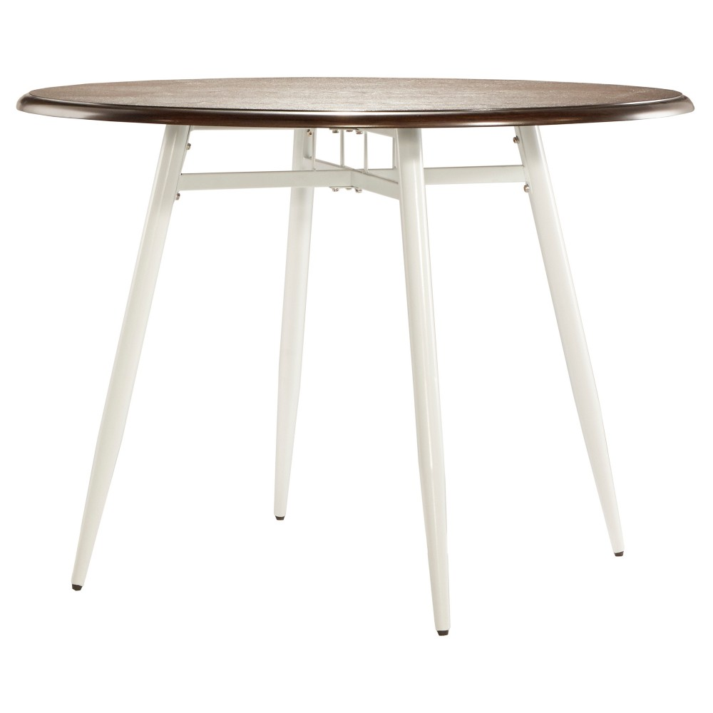 Juniper Lane Dining Table Metal/White & Dark Oak - Inspire Q