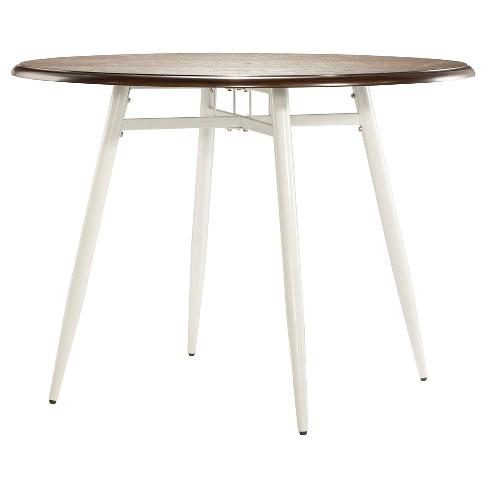 Juniper Lane Dining Table Metal/White & Dark Oak - Inspire Q - image 1 of 4