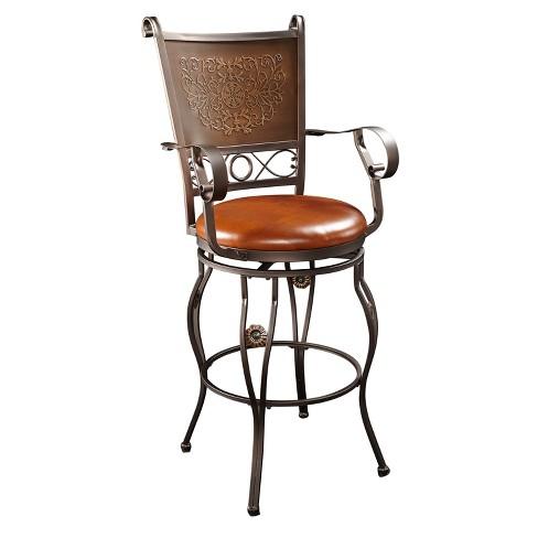 Prime 30 Eli Big Tall Copper Stamped Barstool Powell Company Machost Co Dining Chair Design Ideas Machostcouk