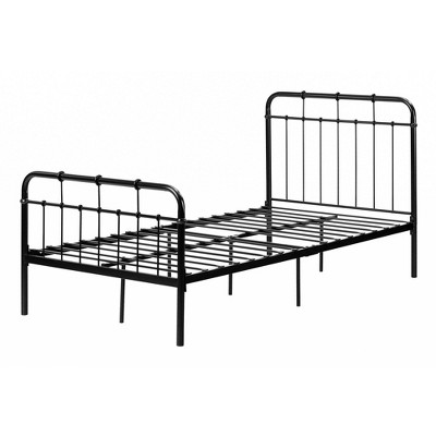 Twin Cotton Candy Metal Complete Bed   Black  - South Shore