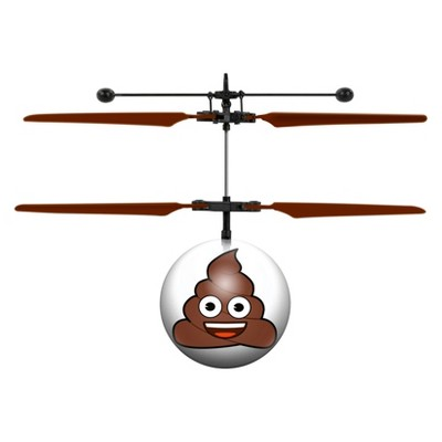 Poop Emoji UFO Ball Helicopter
