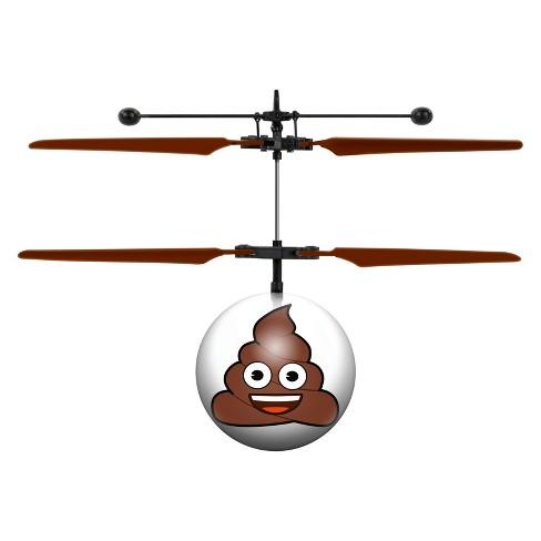 Poop Emoji UFO Ball Helicopter - image 1 of 3