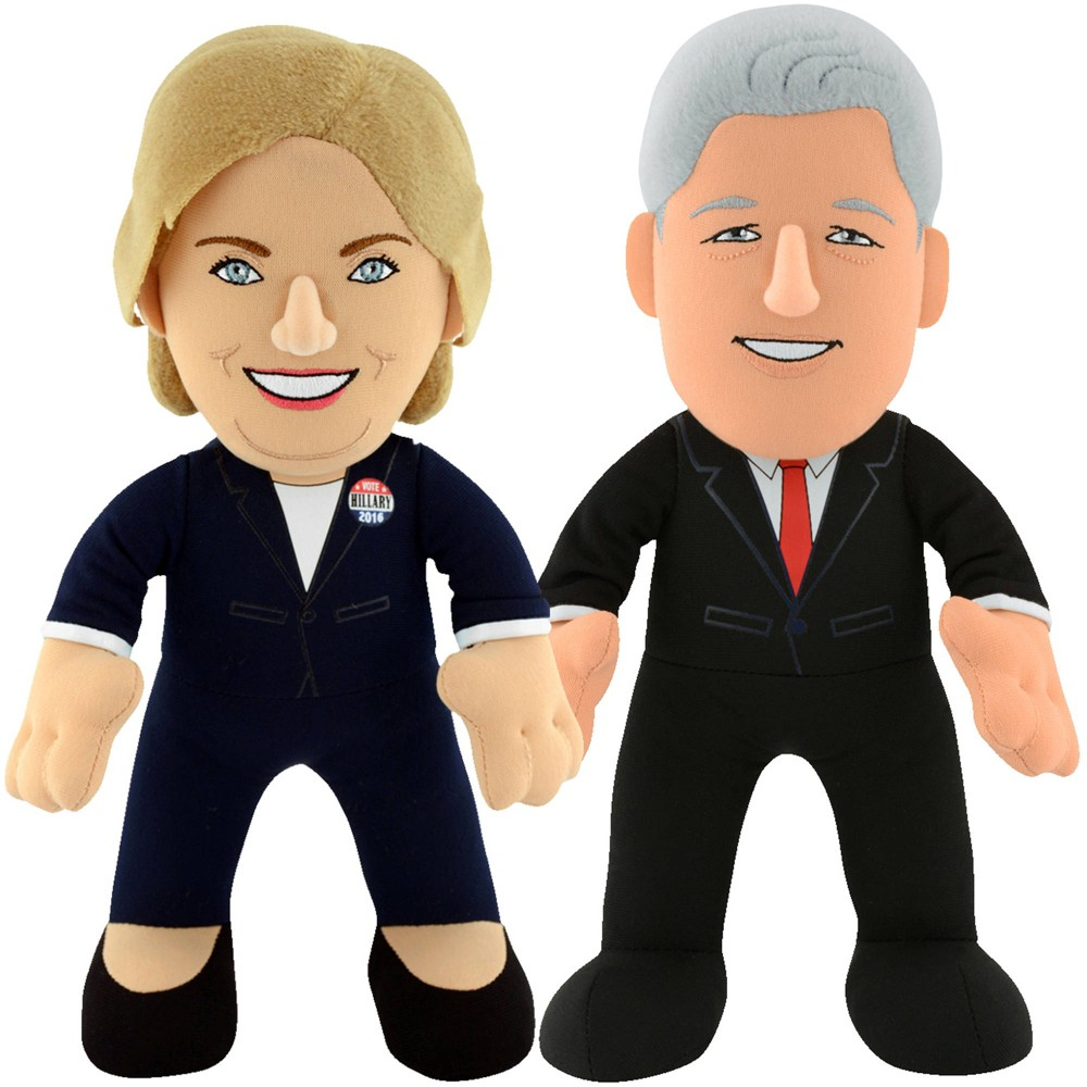 "Image of ""USA President Dynamic Duo 10"""" Plush - Bill & Hillary Clinton"""