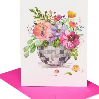 Disco Ball Flowers Print Greeting Card - PAPYRUS