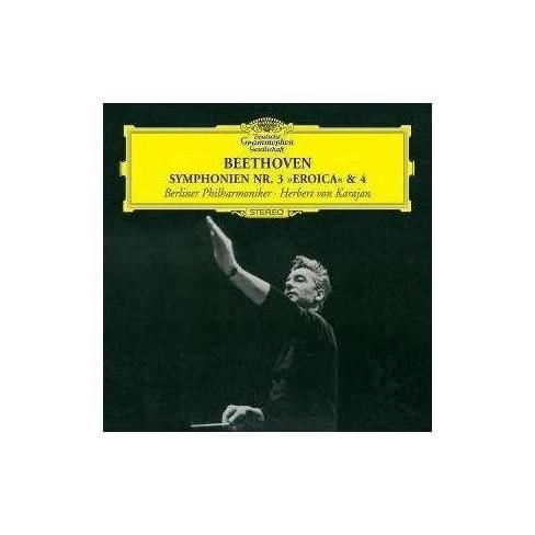 """Herbert v.  Ludwig v.; Karajan Beethoven - Beethoven: Symphony No. 3 """"Eroica"""", Symphony No. 4 (CD) - image 1 of 1"""
