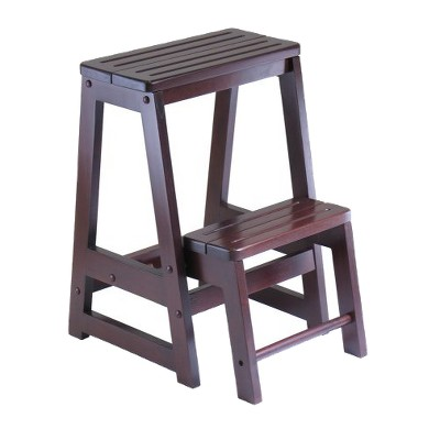 Double Step Stool Antique Walnut - Winsome®