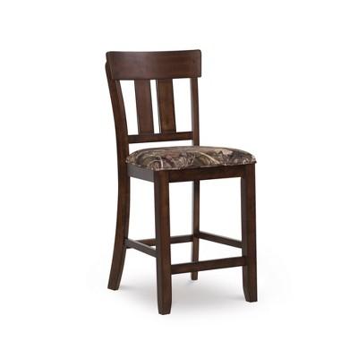 Mossy Oak Native Living Counter Height Barstool Dark Brown - Linon