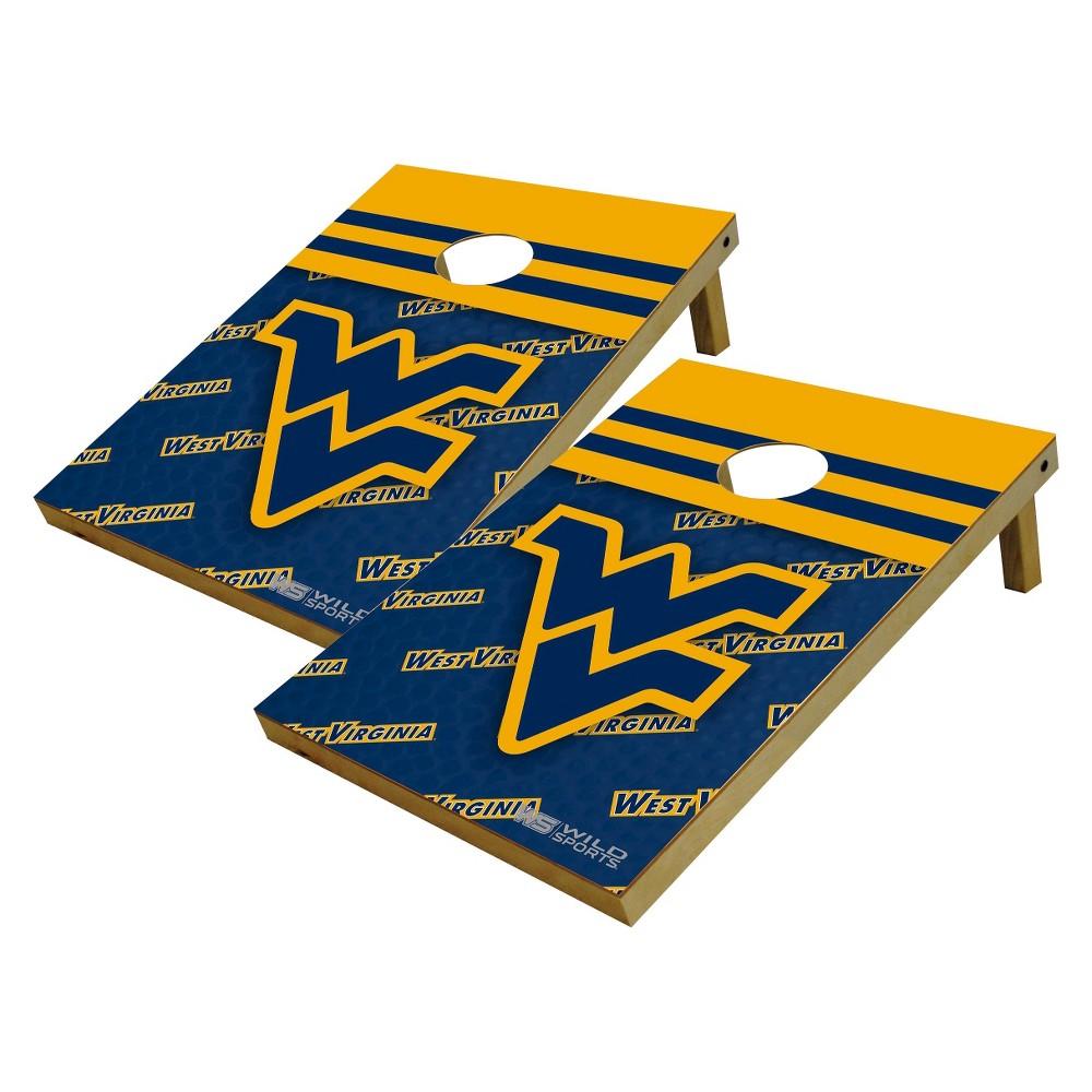 NCAA West Virginia Mountaineers Wild Sports Platinum Shield Cornhole Bag Toss Set - 2'X3'