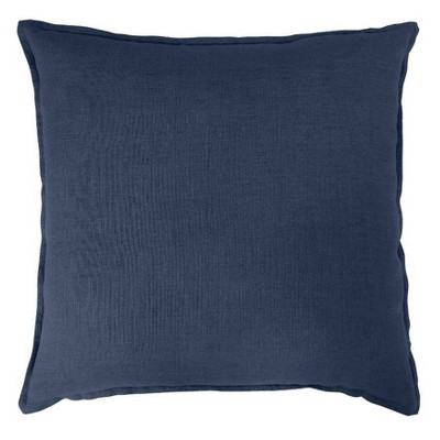 Oversized Square Linen Pillow Navy - Threshold™