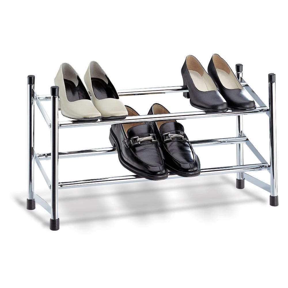 Image of Neu Home Shoe Rack Shiney Silver