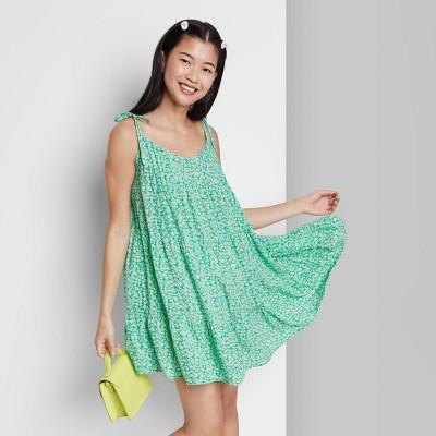 Women's Woven Sleeveless Tiered Swing Dress - Wild Fable™