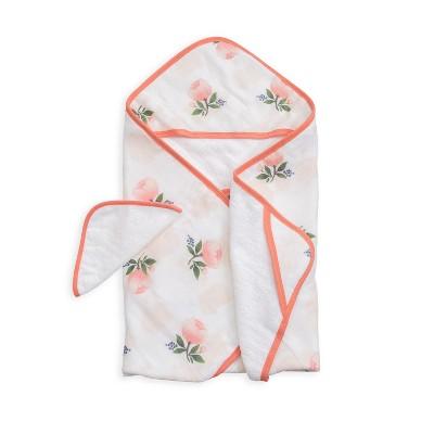 Little Unicorn Hooded Towel - Watercolor Rose