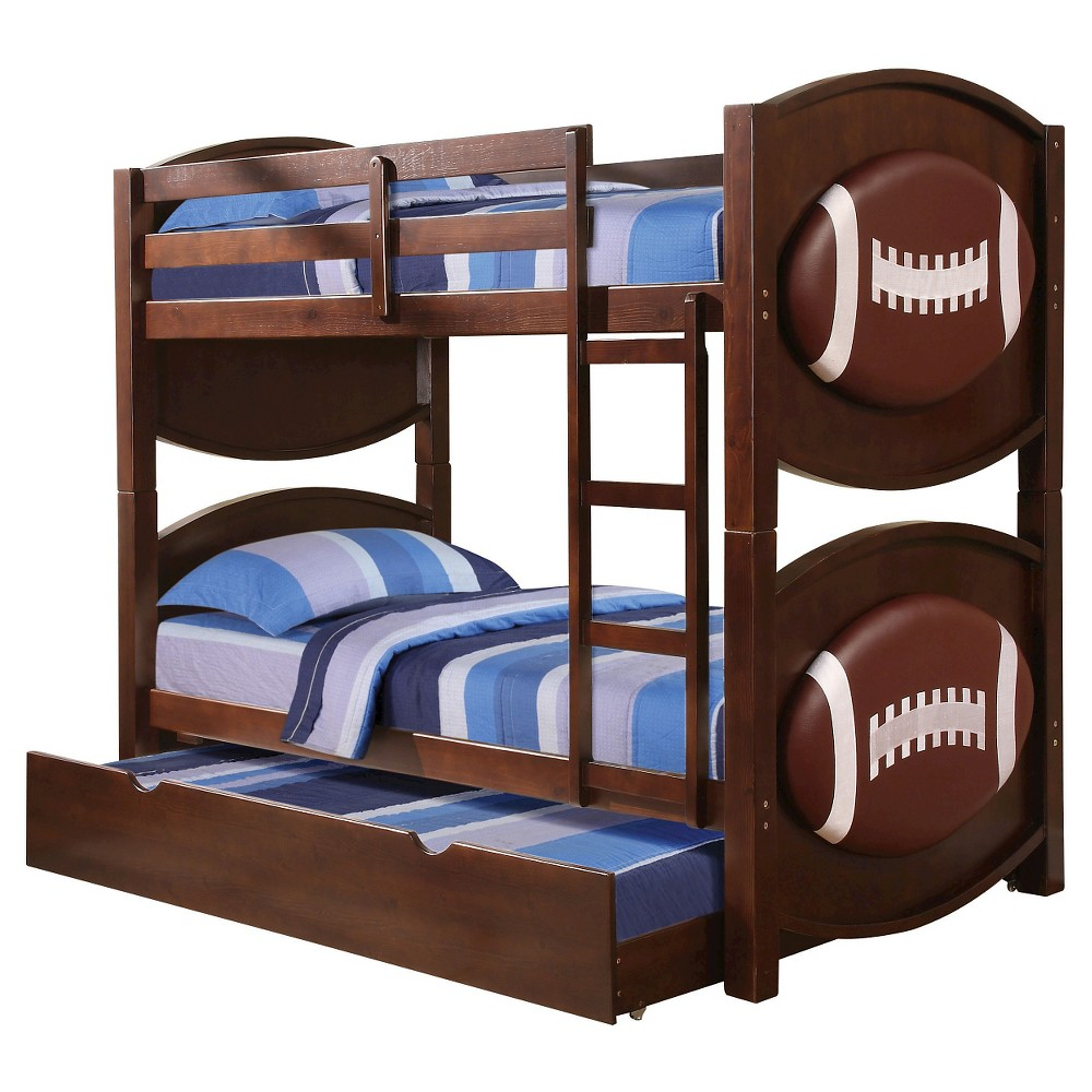 All Star Kids Football Bunk Bed - Espresso( Twin/Twin) - Acme