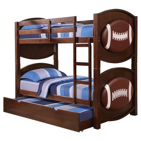 All Star Kids Football Bunk Bed Espresso Twin Target