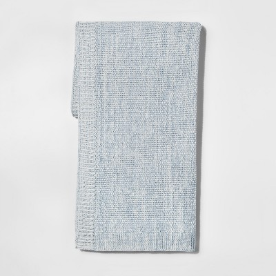 Blue Marled Sweaterknit Throw Blanket 50 X60  - Threshold™