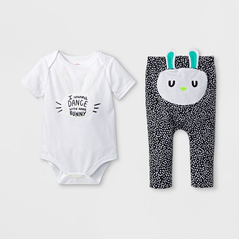 65be6f616 Baby Boys' 2pc Short Sleeve Bodysuit And Joggers Set - Cat & Jack™ White  6-9M : Target
